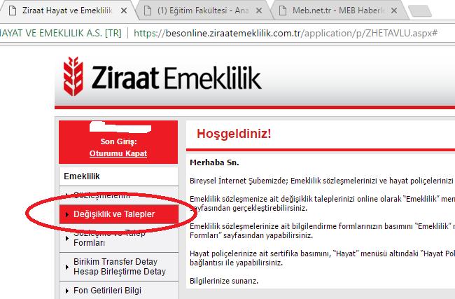ziraat bankası internet şubesi güvenlik adımları