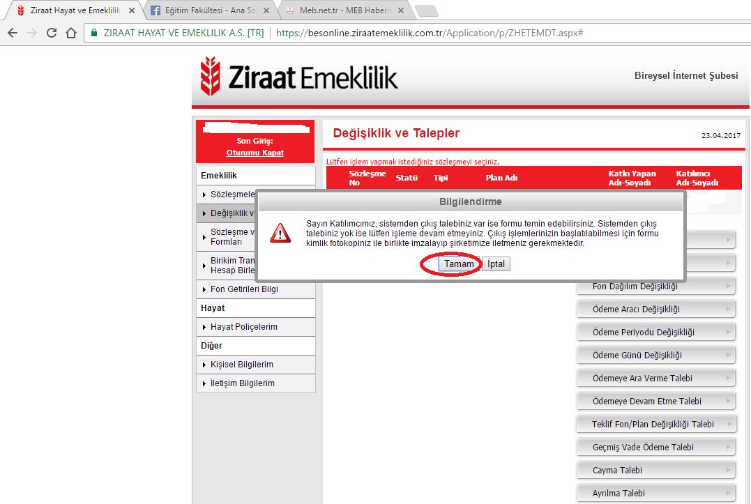 ziraat bankası internet şubesi başvuru